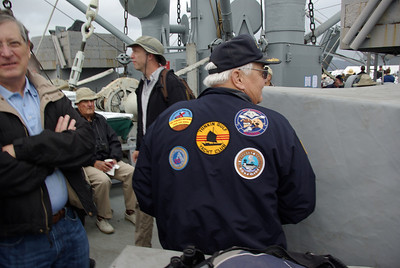PATCH MAN - A Vietnam Navy veteran flies his colors.