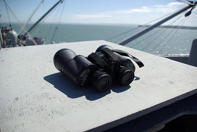 CAPTAIN'S BINOCULARS off starboard nest.