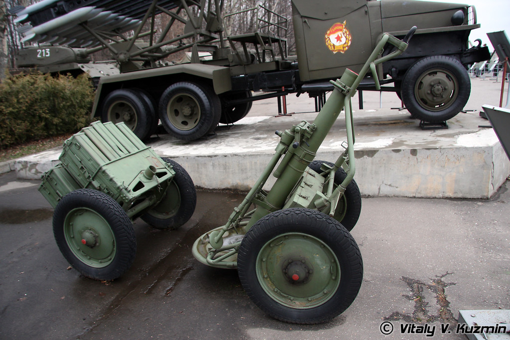 107мм горный полковой миномет обр. 1938г. (107mm mountain pack regiment mortar 1938 model)