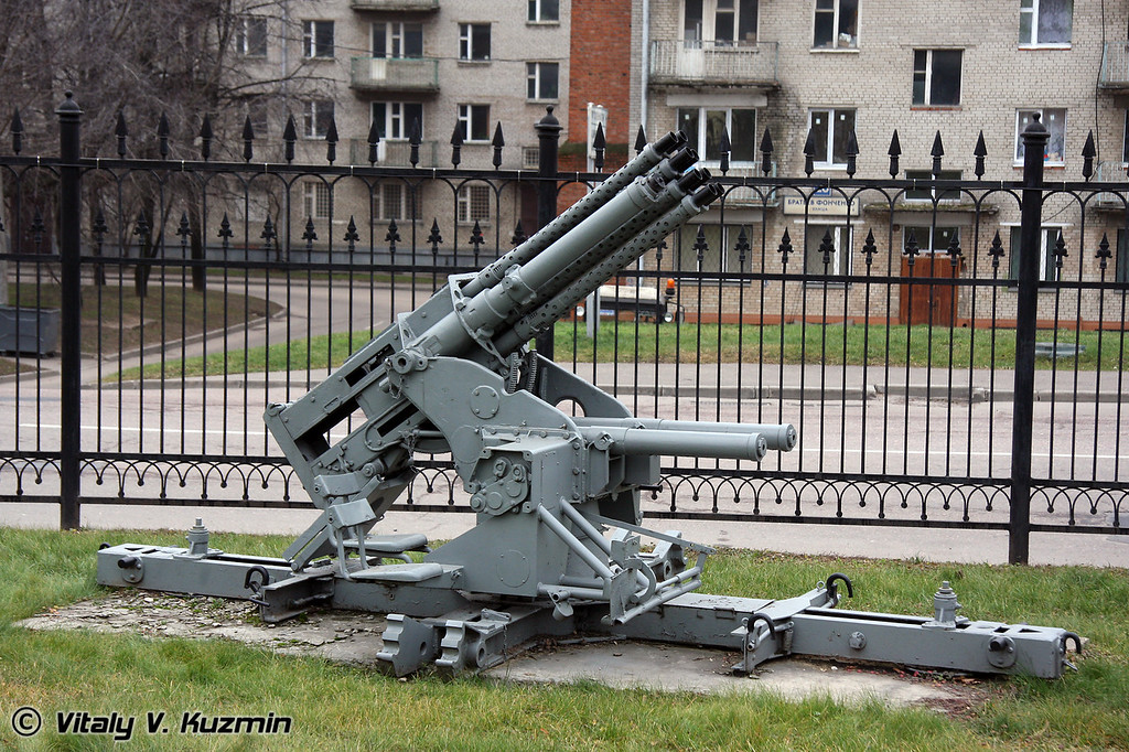 20мм СМК-18 УИ автоматическая зенитная пушка (20mm SMK-18 UI 8-barrel Automatic AA gun)