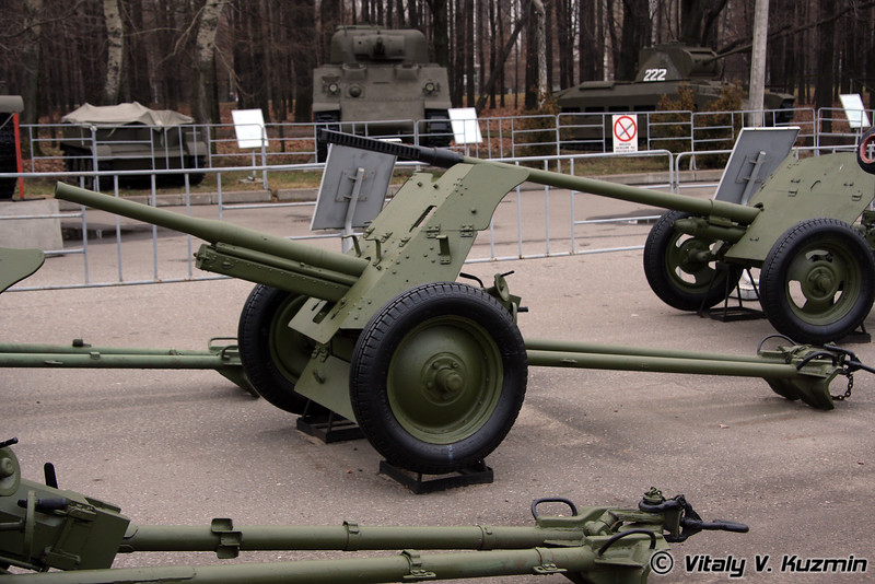 45мм пушка 53-К (45mm battalion antitank gun 53-K 1937 model)