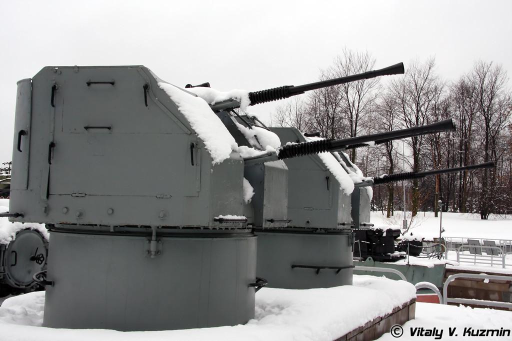 Артиллерийская установка 2М-3М (2M-3M double-machinegun turret artillery mount)