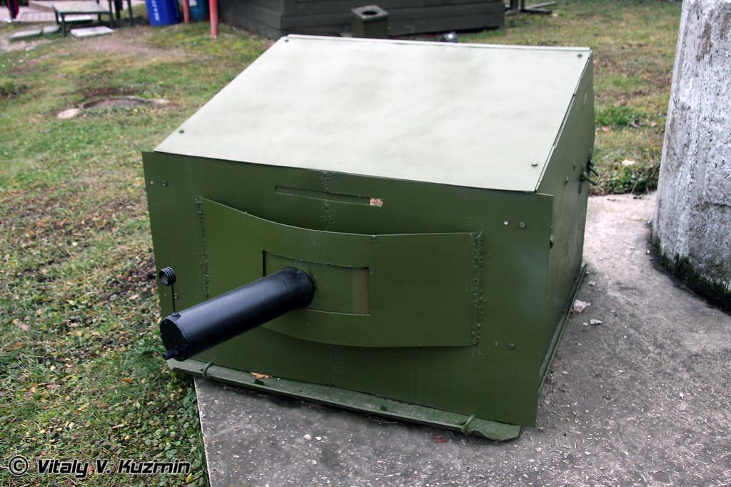 Бронированное сооружение для пулемета НТП (NTP fixed armored machine-gun cover)