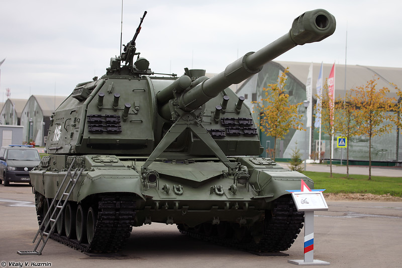 САУ 2С19 Мста-С (2S19 Msta-S self-propelled artillery)