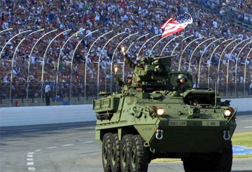 Stryker vehicles have robust armor protection, can sustain speeds of 60 miles per hour, have parts commonality and self recovery abilities and also have a central tire inflation system.