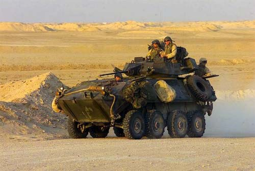 With the aid of their Light Armored Vehicle Two Five (LAV-25), these Marines can undertake a number of missions, to include facilitating reconnaissance, artillery direction and 'hit and run missions.'
