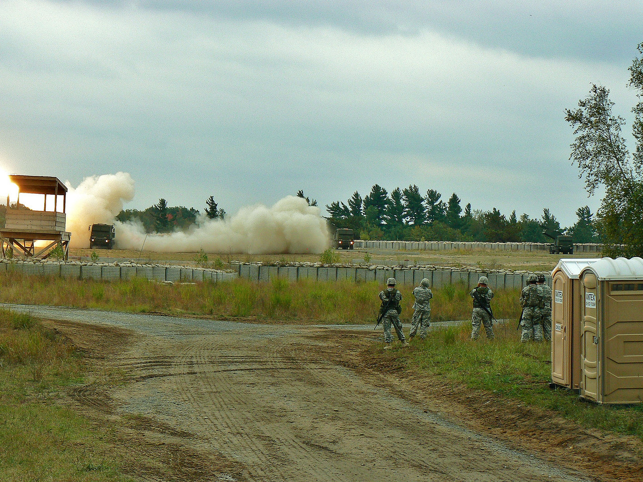 Launcher 32 firing