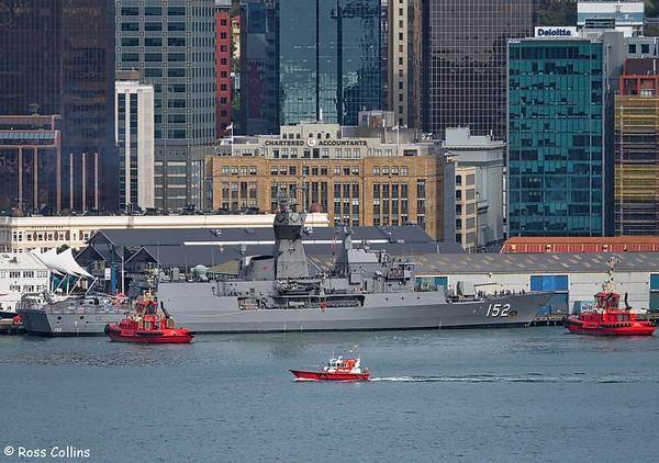 HMAS Warramunga departs from Queens Wharf, Wellington, 29 February 2016