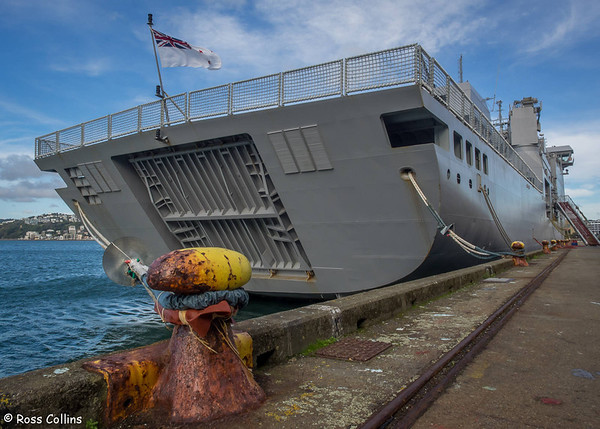 HMNZS Canterbury at Queen's Wharf, Wellington, 18 May 2014