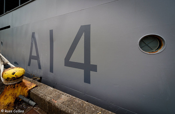 HMNZS Resolution, Queens Wharf, Wellington, 19 February 2012