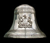 On the inner rim of the bell are the names of those children born to serving officers and sailors when christened on board, when the upturned bell was used as a font.
