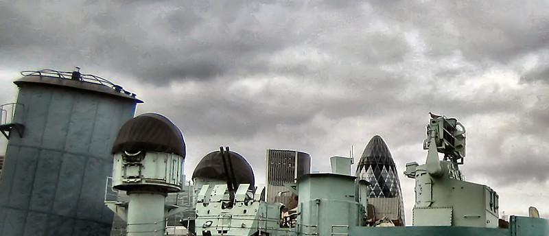 Ship with skyline