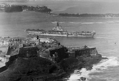 Bulwark entering Porto Rico