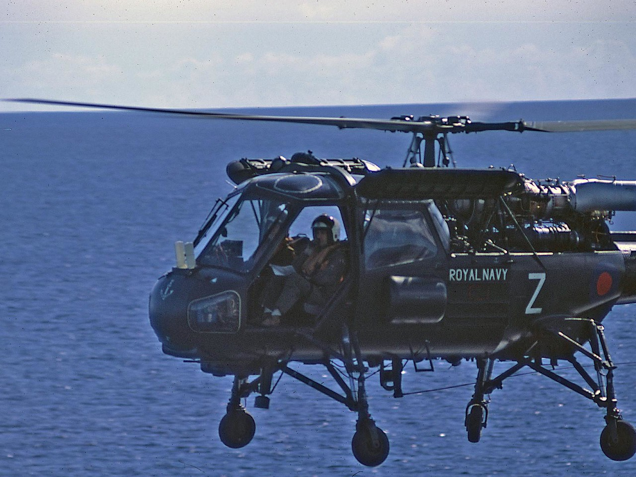 Wasp helicopter from HMS Minerva (probably)