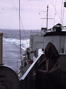 HMS Caprice turning