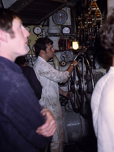 Engineer Officers under training - Chris Bird on the throttles.
