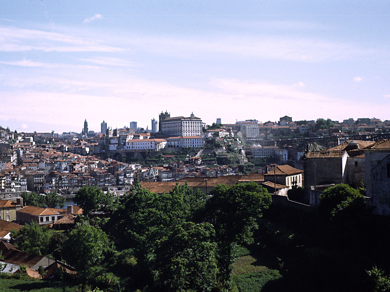 Oporto (presumably)- view from Warre's Port Lodge(?)
