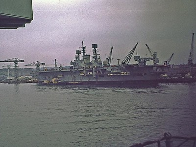 HMS Ark Royal. Devonport 1973