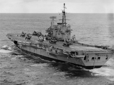 HMS Hermes during Excercise Swift Move. Arctic Oct 1973