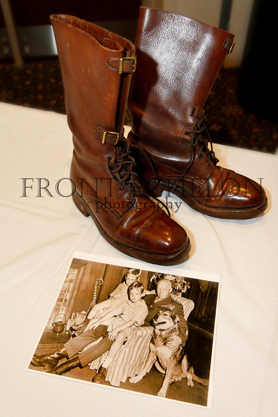 General George S. Patton's original boots and family photo.