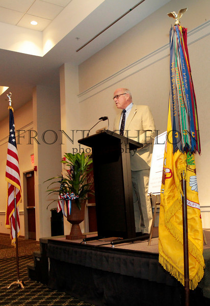 George Patton Waters, Grandson of General George Patton, addresses the 6th Cavalry Museum banquet fundraiser in Ft. Oglethorpe, Georgia