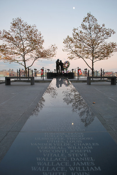 11/9/08. Hoboken unveiled this WWII Memorial to it's 159 fallen heroes of WWII yesterday. At the bottom of the photo you will see the names of Daniel, James & William Wallace, 3 brothers. There were two other sets of brothers from Hoboken as well.