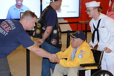 Honor Flight - Midway Airport - June 30, 2015