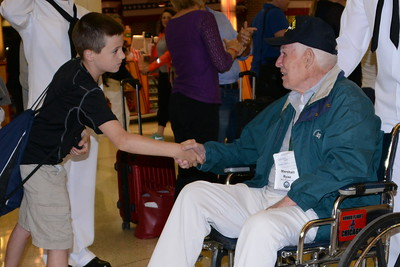 Honor Flight - Midway Airport - June 30, 2015