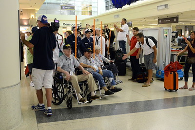 Honor Flight - Midway Airport - August 10, 2016