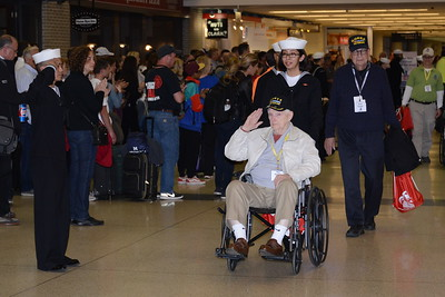 Honor Flight - Midway Airport - April 11, 2018