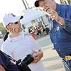 "Ken Pridgeon speaks with Scott Momper, board member of the Texas Fallen Military wall <a href=""http://www.texasfallenmilitary.org/"">http://www.texasfallenmilitary.org/</a>"
