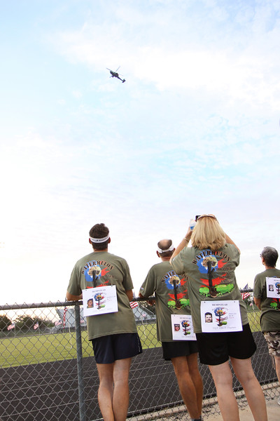 Opening ceremony, Apache demo, Freedom Flight, participants