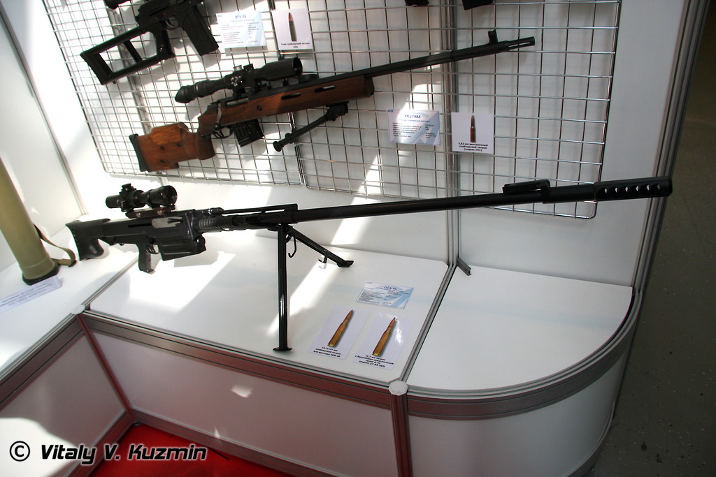 ОСВ-96 и МЦ-116М (12.7-mm OSV-96 sniper rifle and 7.62-mm MTs-116M sniper rifle)