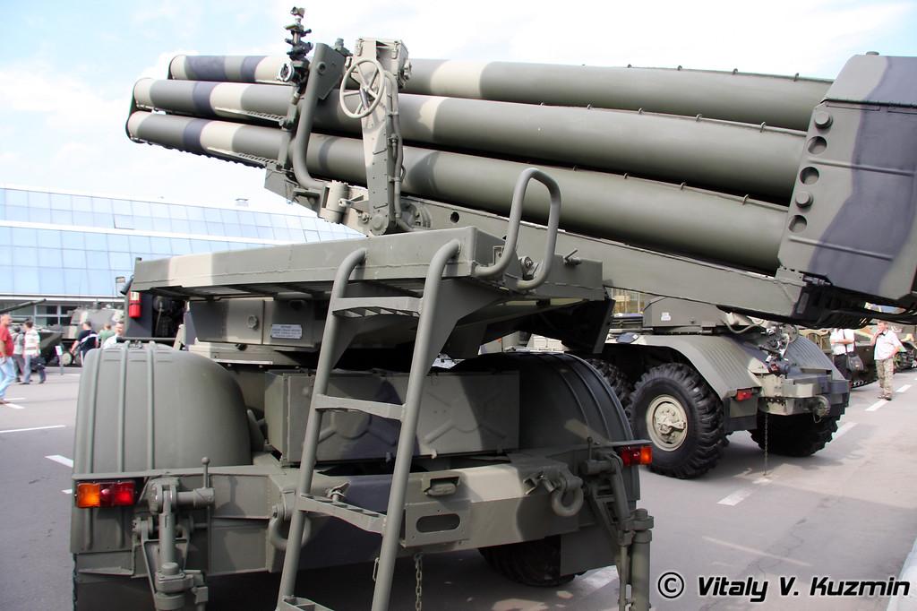 Боевая машина 9П140 РСЗО 9К57 Ураган (9P140 combat vehicle of 9K57 Uragan MLRS)