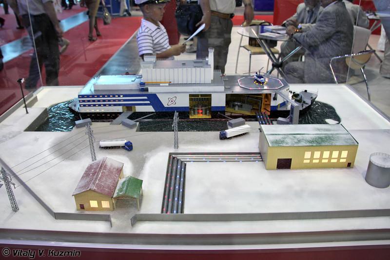 Модель плавучей атомной электростанции малой мощности (Floating nuclear power plant)