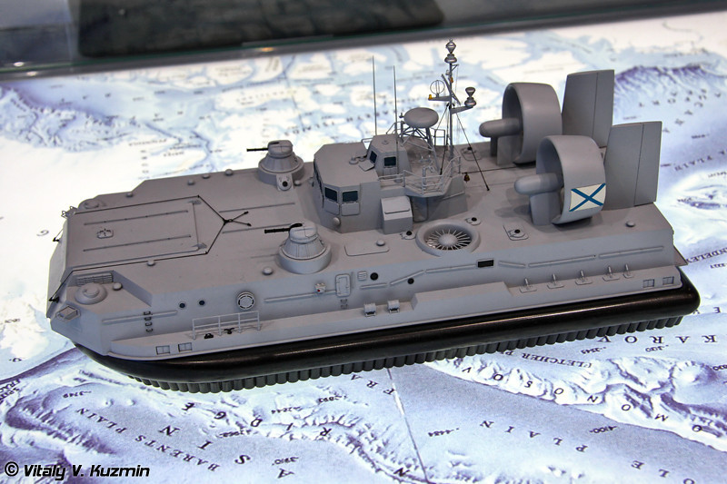 "Десантный катер на воздушной подушке проекта 12061Э ""Мурена Э"" (Project 12061E ""Murena E"" air-cushioned landing craft)"