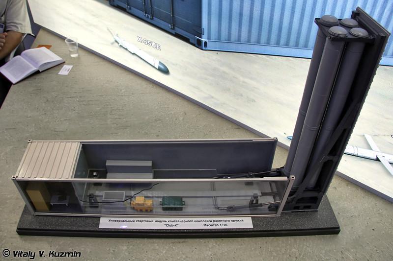 Универсальный стартовый модуль контейнерного комплекса ракетного оружия Club-K (Container missile system Club-K)