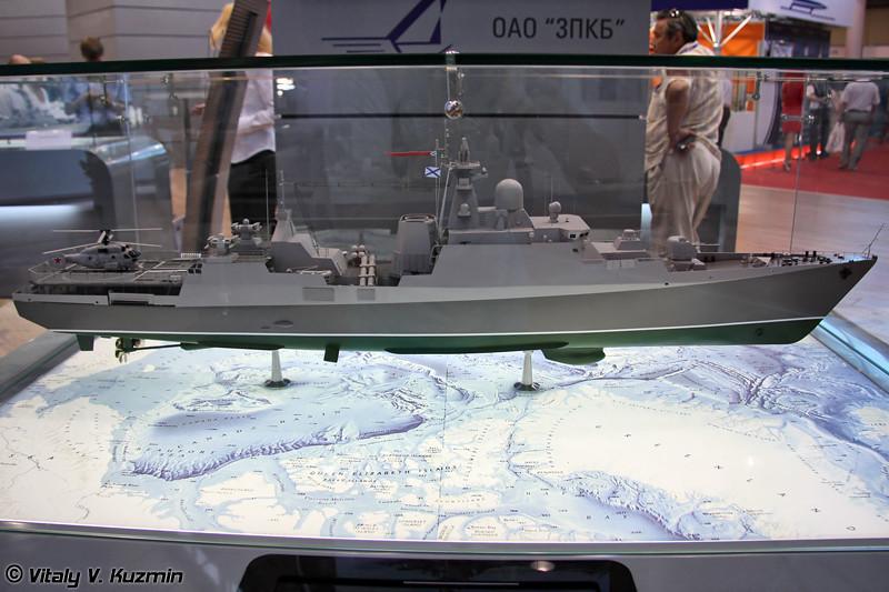 Фрегат проекта Гепард-3.9 на базе сторожевого корабля проекта 11661 (Gepard-3.9 frigate on project 11661 frigate base)