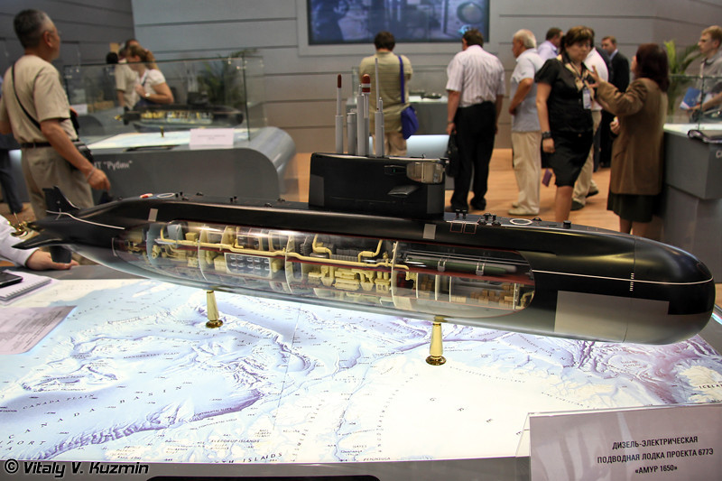 """Дизель-электрическая подводная лодка проекта 677Э """"Амур 1650"""" (Project 677E """"Amur 1650"""" diesel-electric submarine)"""