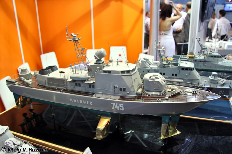 """Ракетно-артиллерийский катер на подводных крыльях проекта 133РА """"Антарес РА"""" (Project 133RA """"Antares RA"""" missile boat)"""