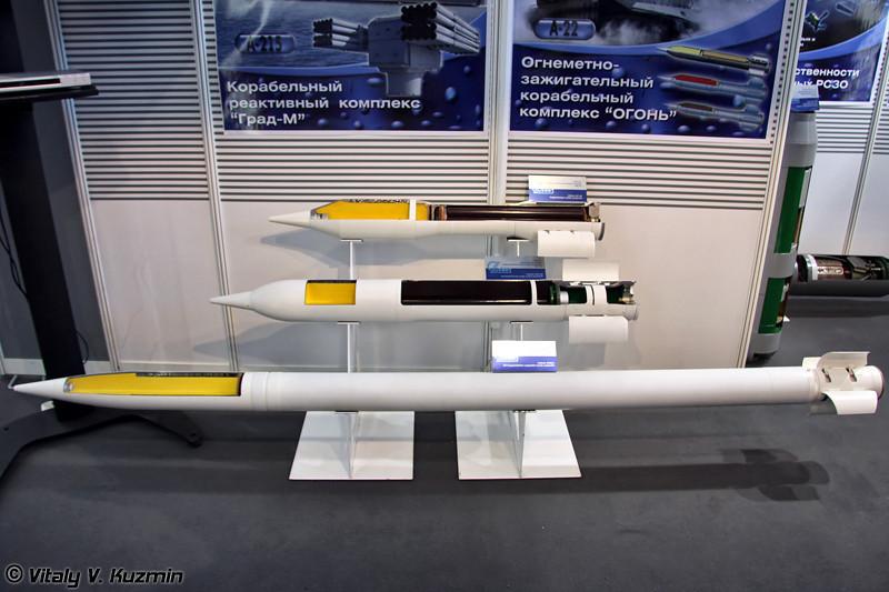 140-мм осколочно-реактивный снаряд ОФ-45, 140-мм реактивный снаряд с повышенной дальностью стрельбы ОФ-45, 122-мм неуправляемый осколочно-фугасный реактивный снаряд 9М521 (140-mm rocket projectile OF-45, 140-mm increased firing range rocket projectile OF-45, 122-mm HE-fragmentation unguided rocket projectile 9M521)
