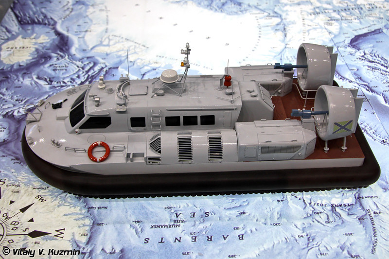 """Малый патрульный катер на воздушной подушке проекта 20970 """"Чилим"""" (Project 20970 """"Chilim"""" partol hovercraft)"""