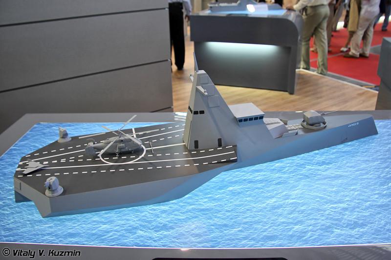 """Концептуальная модель корвета ближней морской зоны """"Орелъ"""" (""""Orel"""" corvette concept)"""