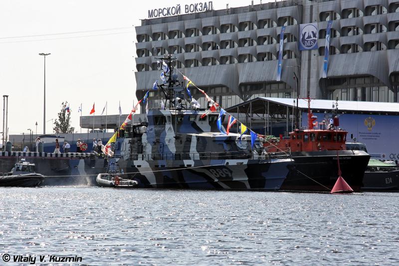 """Противодиверсионный катер """"П-104"""" проекта 21980 """"Грачонок"""" (""""P-104"""" project 21980 Grachonok class anti-diversionary ship)"""