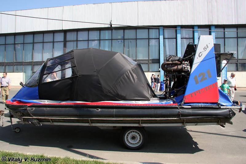 Легкий катер-амфибия на воздушной подушке Стрелец С-51 RT (Light hovercraft Strelets C-51 RT)