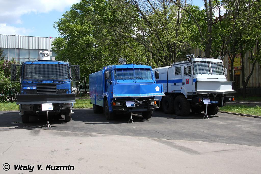 Бронированные водометные спецавтомобили (Riot control vehicles)