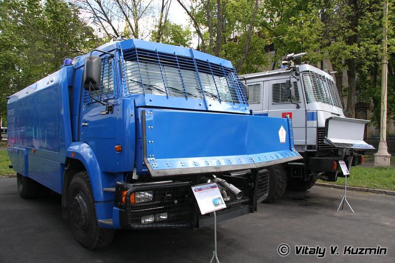 Спецавтомобиль Шторм на шасси КАМАЗ-53605 (Shtorm riot control vehicle on KAMAZ-54605 chassis)