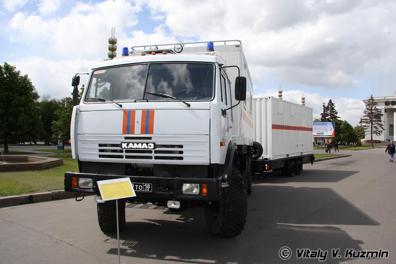 Пункт управления на шасси КАМАЗ (EMERCOM command vehicle)