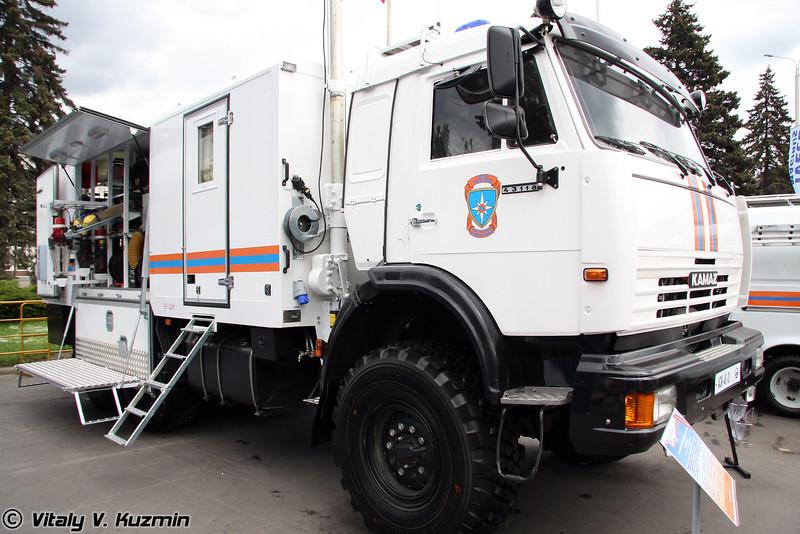 Аварийно-спасательная машина АСМ-48-03 на базе КАМАЗ-43118-1048-10 (Search-and-rescue emergency vehicle ASM-48-03 on KAMAZ-43118-1048-10 chassis)