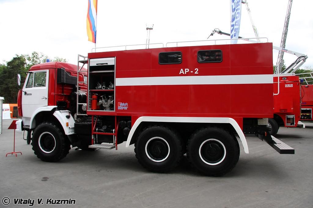 Пожарный рукавный автомобиль АР-2 на шасси КАМАЗ-43114 (Fire hose truck AR-2 on KAMAZ-43114 chassis)